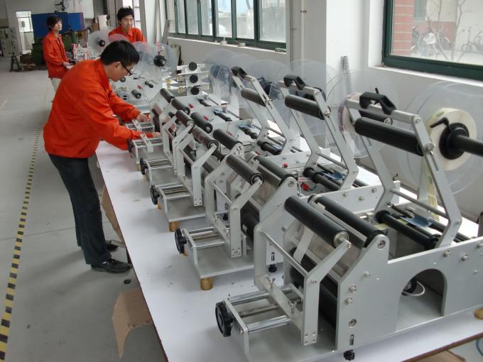 Fuldautomatisk dobbeltsidet mærkatmærkningsmaskine flad etiketapplikator