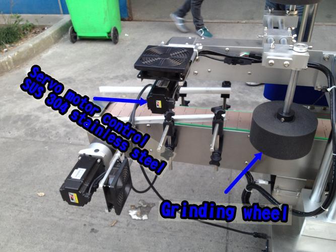 Vandret lille flaskemærkningsmaskine / automatisk applikatormaskine til etiketter