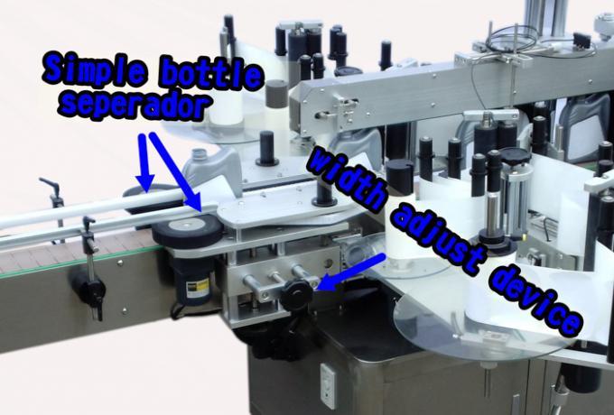 Fremragende automatisk mærkning maskine til vaskemiddel flaske dobbelt side klistermærke