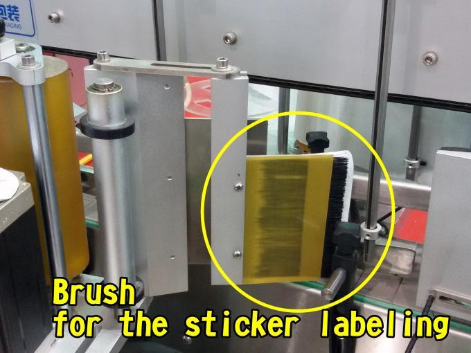 Flad overfladeautomatisk mærkningsmaskine til poser Fabrikshastighed 60 - 350 stk / min