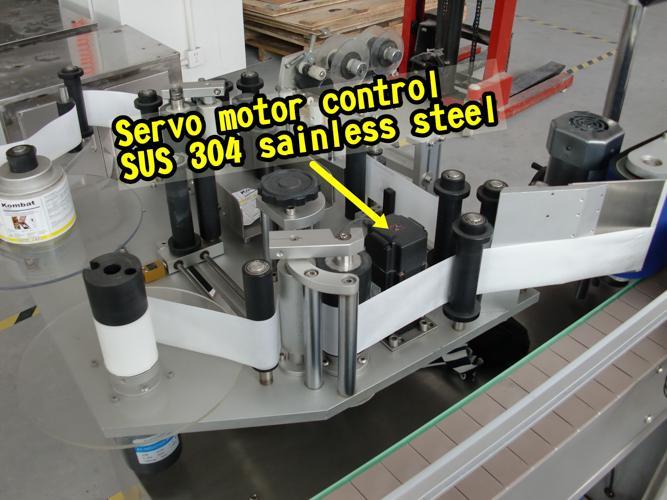 5 gallon hætte dobbeltsidet automatisk etiketteringsmaskine til selvklæbende klistermærke