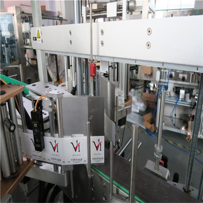 Automatisk dobbeltsidet mærkatmærkningsmaskine flad firkantet flaske rund flaske