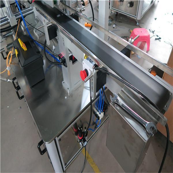 Tre sider Automatisk firkantet flaskemærkemaskine Elektrisk drevet type