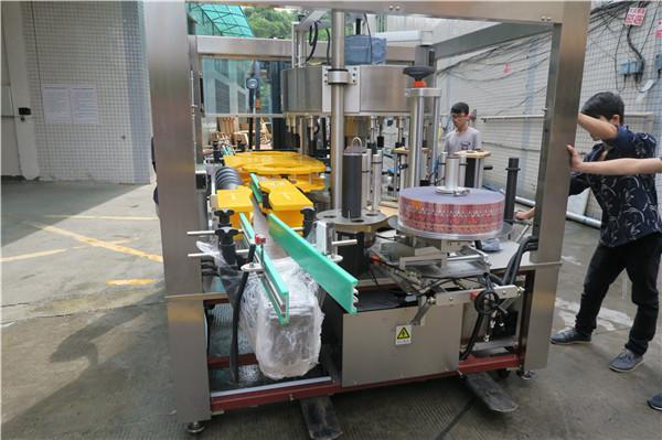 Juiceølflaske Enfoldig roterende klistermærke Maskine AC380V 50Hz 5,5KW