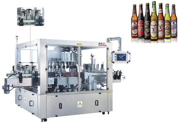 Tre ansigter placering aAutomatisk mærkatmærkningsmaskine Rotationssystemmaskiner