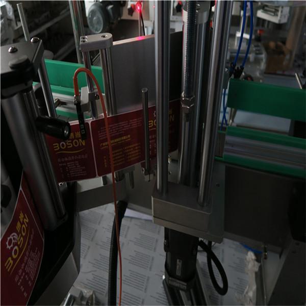 En side oval flaske mærkning maskine applikator, selvklæbende klistermærke maskine