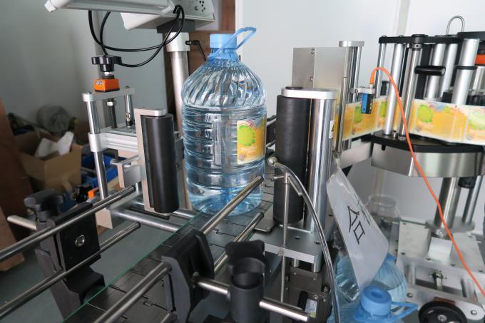 5L drikkevand rund flaske klistermærke maskine, selvklæbende etiket klæbemaskiner