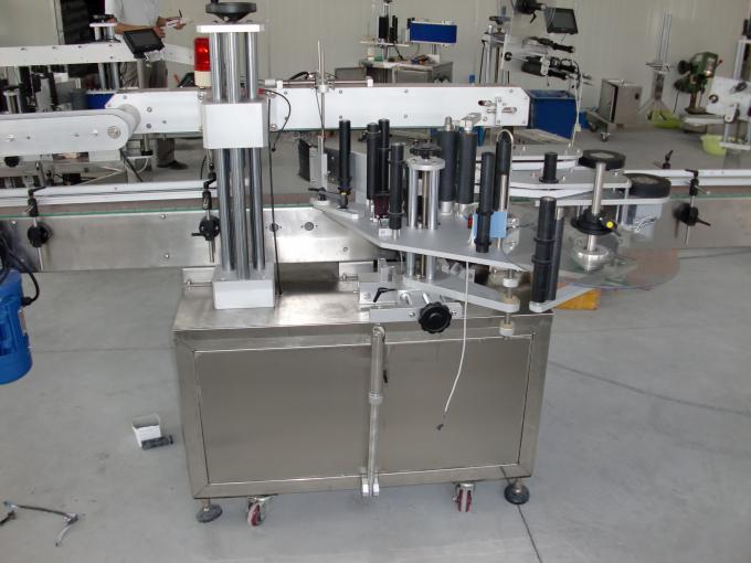 Plast- og glasflasker PLC styrer automatisk dobbeltsidet mærkatmærkningsmaskine servomotor