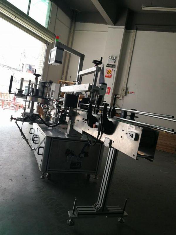 Automatisk mærkatmærkatmaskine, oval flaskeetikettapplikatormaskine til flasker
