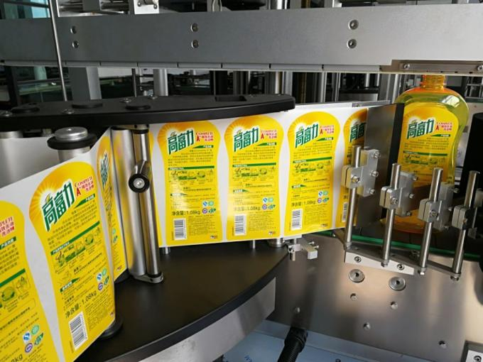 Ensidig firkantet flaskemærkeapplikator med Wrap Around Labelling System