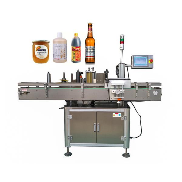 Omkring automatisk mærkatmærkningsmaskine flad og rund flaske