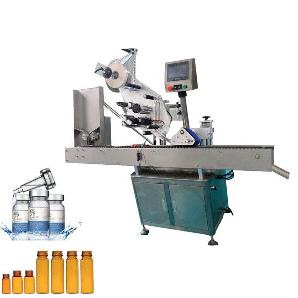 Automatisk mærkning af tyggegummihætteglas til 10 ml lille rund flaske