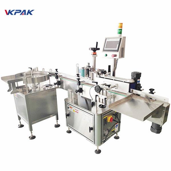 Automatisk mærkningsmaskine med dobbelt side klistermærke med pladespiller
