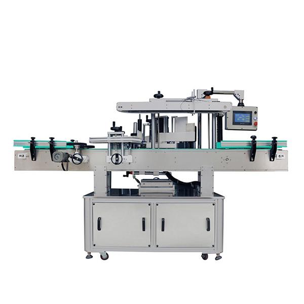 Automatisk mærkatmærkningsmaskine, oval flaskeetikettapplikatormaskine