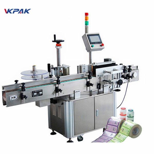 CE-godkendelsesflaskemærkningsapparatmaskine til rund flaskemærkning