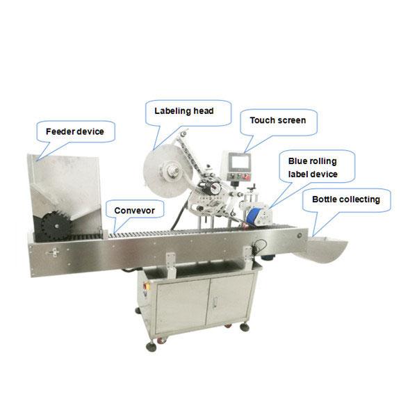 Fuldautomatisk flaskemærkningsapparatmaskine med CE-certifikat