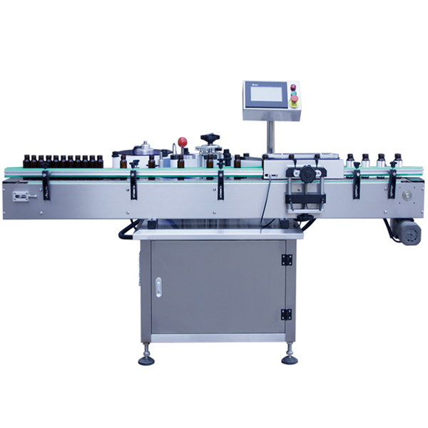 Glasflaske Selvklæbende mærkatmaskine, Glasburkemærkningsmaskine
