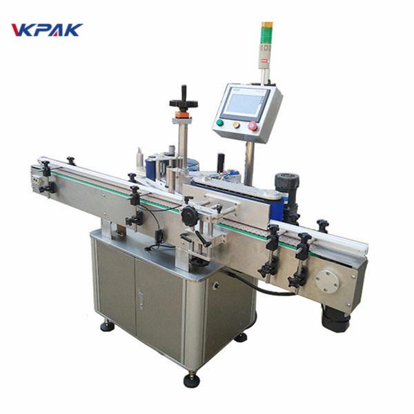 Høj mærkningshastighed Rund flaskemærkningsmaskine til automatisk mejeri og juice
