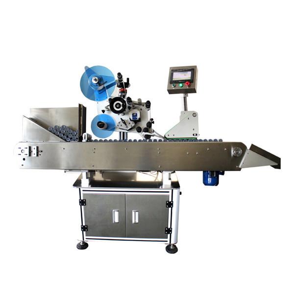Højhastigheds industriel flaskehætteglas mærkningsmaskine