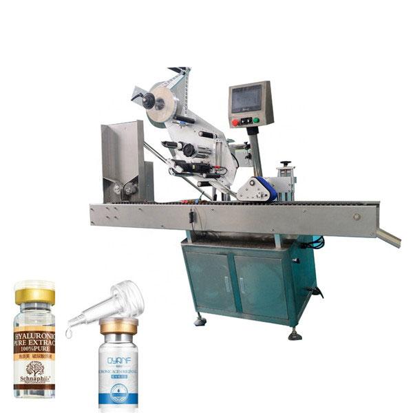 Høj hastighed Sus304 Økonomisk automatisk karton top og bund hætteglas mærkning maskine