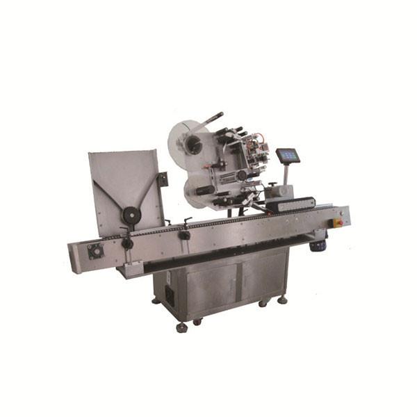 Høj hastighed Sus304 økonomi automatisk rund hætteglas hætteglas mærkning maskine
