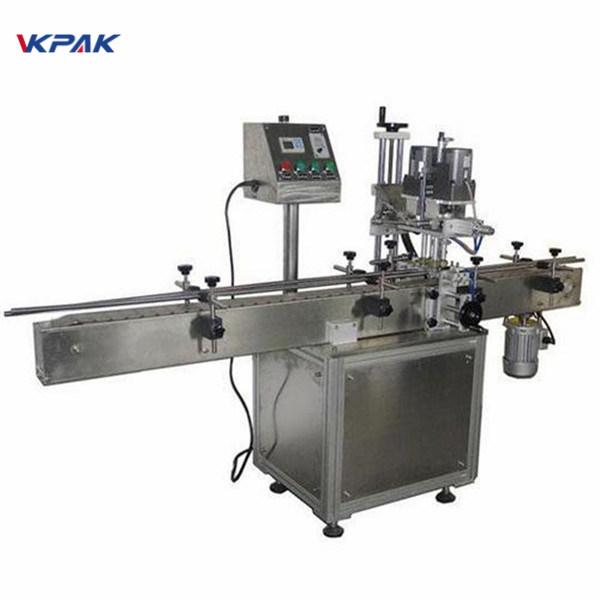 Industriel dobbeltsidet rund flaskemærkningsmaskine til kosmetikprodukter