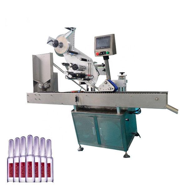 Intelligent kontrol Sus304 økonomi Automatisk kosmetik hætteglas mærkning maskine
