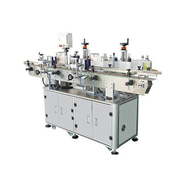 PCL-kontrol automatisk mærkatmærkningsmaskine til runde
