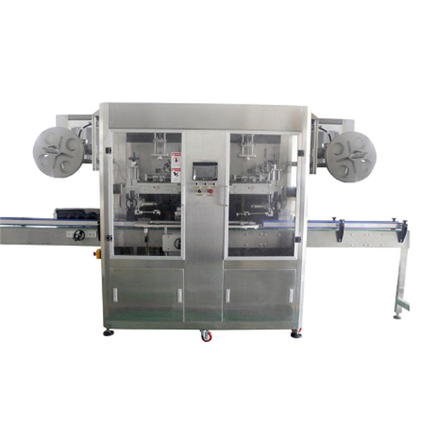 PET-flaske rustfrit stål krympemuffemaskine til forskellige flasker CE