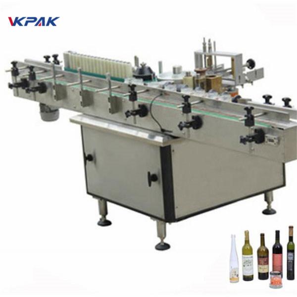 Pasta og kold limetiket applikator maskine til forskellige flasker automatisk