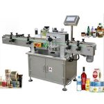 Runde flaskemærkningsmaskiner, vikle rundt om etiketapplikator