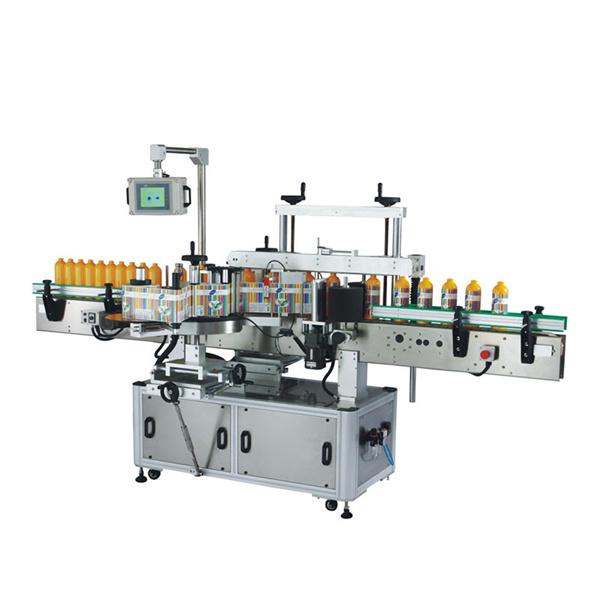 Selvklæbende mærkningsmaskine foran og bagpå