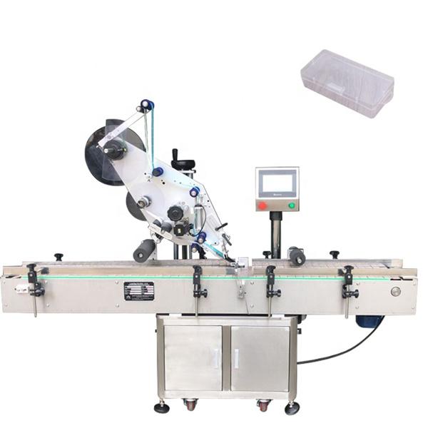 Enkeltsidet firkantet flaskemærkningsmaskine