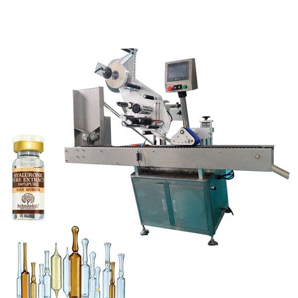 Lille rund flaskehætteglas etiketteringsmaskine til 10 ml flaske