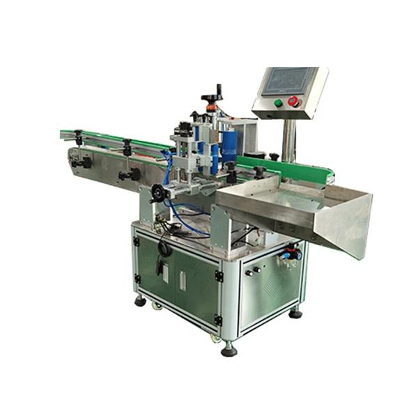 Firkantede og runde flasker automatiseret etiketteringsmaskine