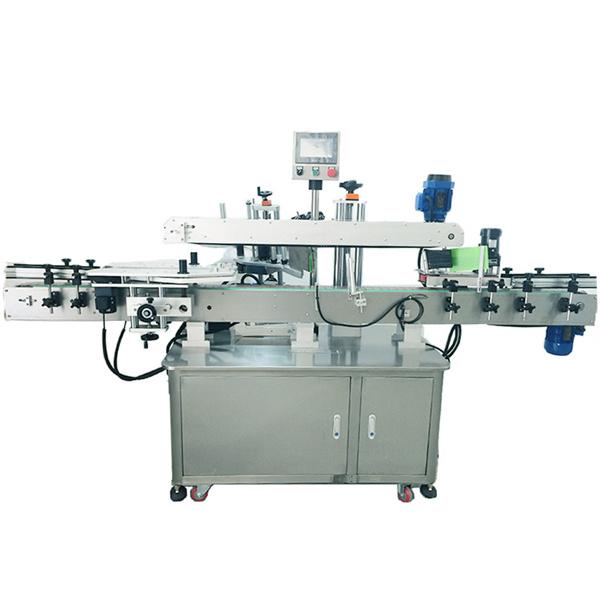 Rustfrit stål automatisk mærkatmærkningsmaskine til dobbeltsidet mærkning