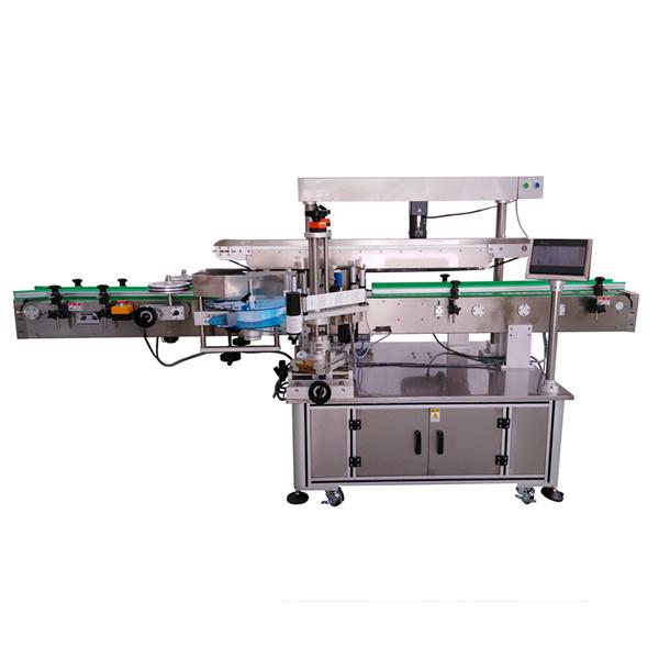 Selvklæbende maskine med tre etiketter