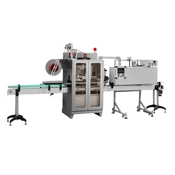 Vandflaske Mærkning af maskine med dobbeltsidet krympemuffe