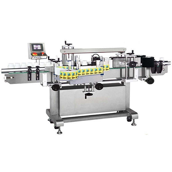 Vinflaske mærkning maskine dobbeltsidet