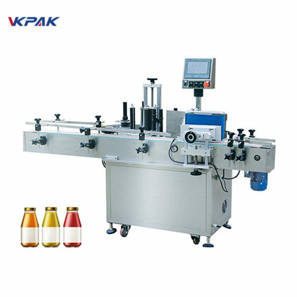 Vinflaske Én side automatisk rund flaske mærkning maskine