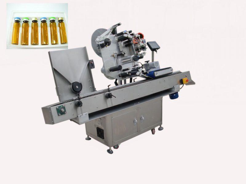 Kina økonomi automatisk mælkeflaske hætteglas mærkning maskine til selvklæbende klistermærke 220V 2kw 50 / 60HZ leverandør