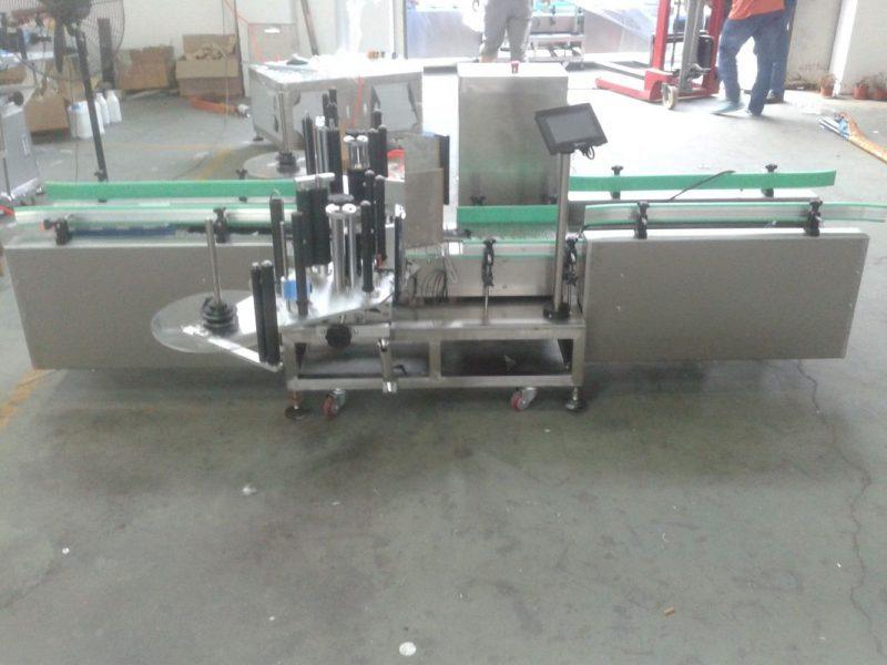 Kina Intelligent Siemens PLC Control Automatic Label Machine med Collection Surface leverandør