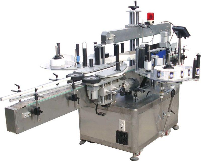 Kina 5 gallon hætte dobbeltsidet automatisk etiketteringsmaskine til selvklæbende klistermærke leverandør