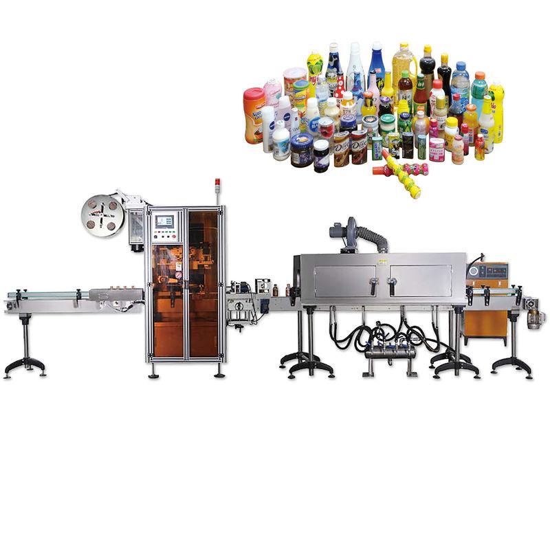 Kina samlet flaskehætte forsegling krympemærkningsmaskiner med leverandør med lang levetid