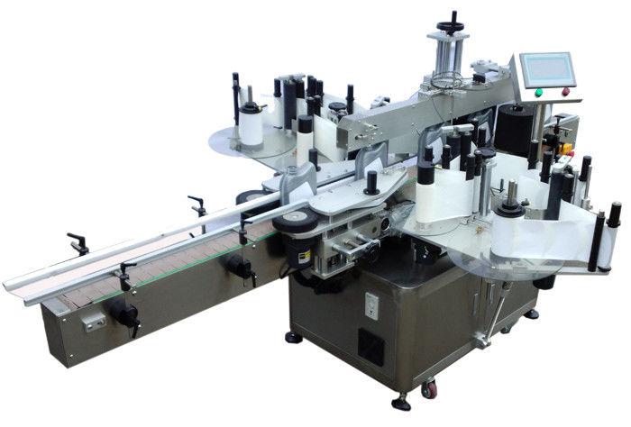 Kina SUS304 rustfrit stål økonomi dobbelt side klistermærke mærkning maskine til flaske mærkning leverandør