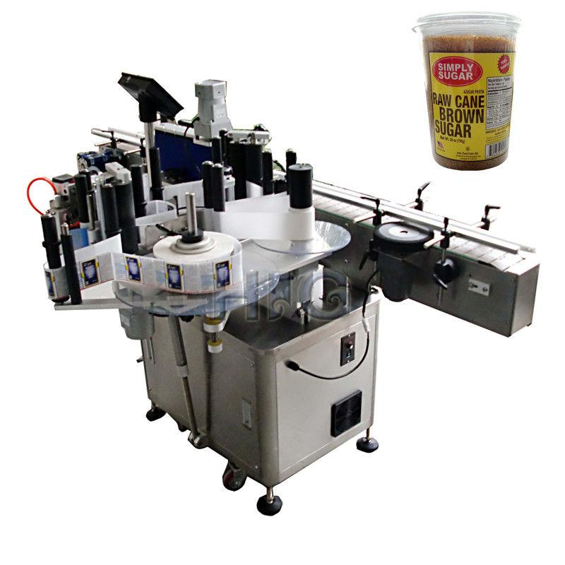 Kina rund flaskemærkningsmaskine, aftapning og mærkning af maskine til leverandør af bround suger jar
