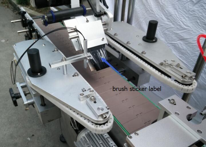 Automatisk rund flaske klistermærke mærkning maskine til øl flaske talte motor