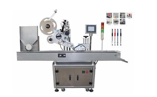 Kina Fuld - Automatisk hætteglas mærkning maskine servomotor PLC kontrol for amplouse flasker leverandør