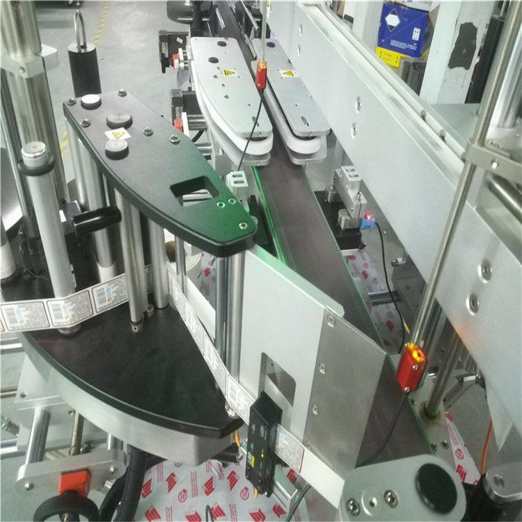Automatisk dobbelt sidemærkatmærkningsmaskine til firkantet rund flaske