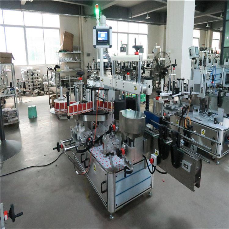 Flad flaske High Speed mærkning maskine to sider til kosmetik / drikkevarer